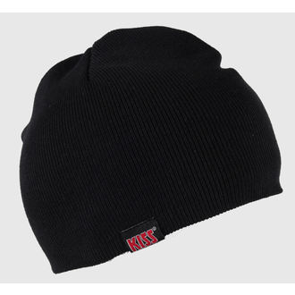 Strickbeanie Kiss - Red on White Logo - ROCK OFF, ROCK OFF, Kiss