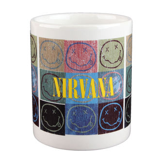 Keramiktasse  Nirvana - Distressed Smiley Blocks - ROCK OFF, ROCK OFF, Nirvana