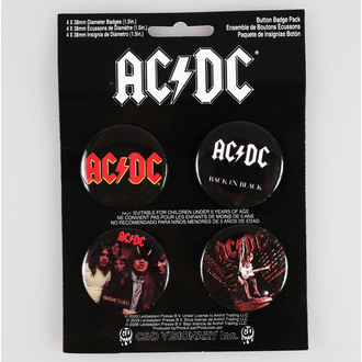 Button Badge Set AC/DC - CDV, C&D VISIONARY, AC-DC