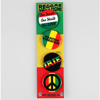 Button Badge Set DSX Reggae&Rasta - Assorted, C&D VISIONARY