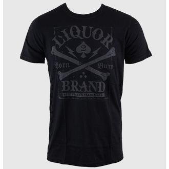 Herren T-Shirt LIQUOR BRAND - Crossbones - Black, LIQUOR BRAND