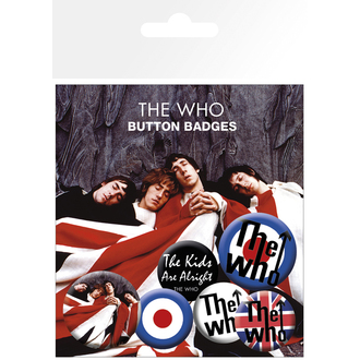 Button Badge Set The Who - Lyrics And Logos, NNM, Who