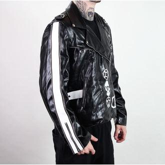 Herren Jacke (Leather Jacket) ADERLASS - Rock Jacket Lacrimas Profundere - Black, ADERLASS