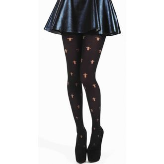 Strumpfhose PAMELA MANN - Opaque Cross Tights - Black, PAMELA MANN