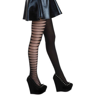 Strumpfhose PAMELA MANN - Sheer Side Slash Tights - Black, PAMELA MANN