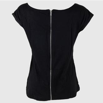 Damen T-Shirt Jack Daniels - With Zipper On Back - Black - Bioworld, JACK DANIELS