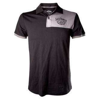 Herren Poloshirt Jack Daniels - Patch With Logo - Grey, JACK DANIELS