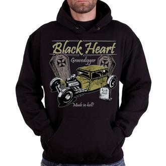Herren Kapuzenpullover BLACK HEART - Gravedigger, BLACK HEART
