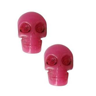 Ohrstecker KREEPSVILLE  SIX SIX SIX - Skull - Pink, KREEPSVILLE SIX SIX SIX
