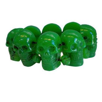 Armband KREEPSVILLE SIX SIX SIX - Skull - Green, KREEPSVILLE SIX SIX SIX