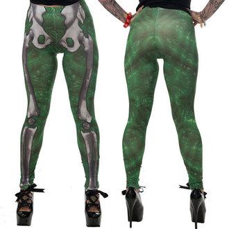 Damen Leggings KREEPSVILLE SIX SIX SIX - Skele-Bone - Slime