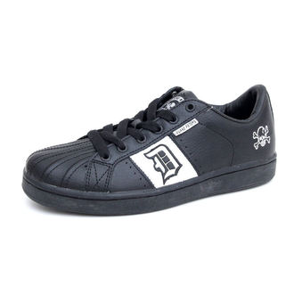 Schuhe Draven Duane Peters Disaster skate Shoes blc wht mc1600i