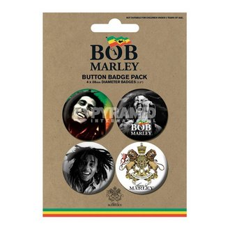 Button  Bob Marley - Photo - PYRAMID POSTERS, PYRAMID POSTERS, Bob Marley