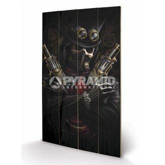 Holzbild Spiral - Steampunk Bandit - PYRAMID POSTERS, SPIRAL