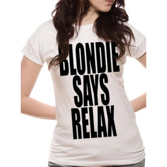 Damen T-Shirt Blondie - Says Relax - White - LIVE NATION - PE10717SKW