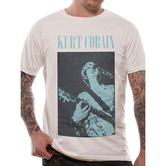 Herren T-Shirt   Kurt Cobain - Standing Blue Photo - LIVE NATION, LIVE NATION, Nirvana