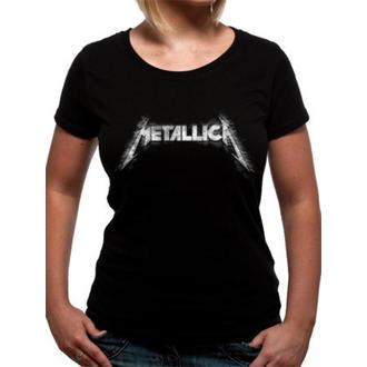 Damen T-Shirt Metalllica - Spiked Logo - Black - LIVE NATION