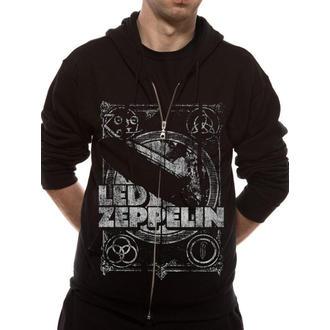 Herren Hoodie Led Zeppelin - Shook Me - Black - LIVE NATION - RTLZE0740