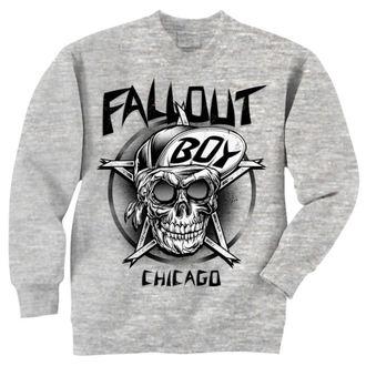 Herren Hoodie Fall Out Boy - Skull - Grey - LIVE NATION, LIVE NATION, Fall Out Boy