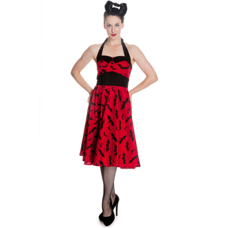 Damen Kleid HELL BUNNY - Bat 50´s - Red/Blk, HELL BUNNY