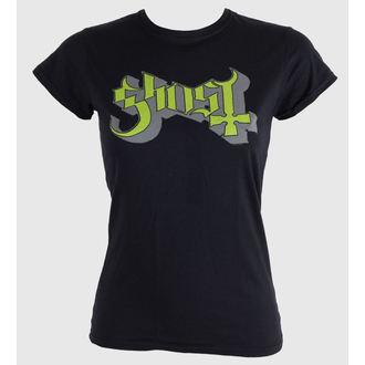 Damen T-Shirt  Ghost - Keyline Logo - Green Grey - ROCK OFF, ROCK OFF, Ghost