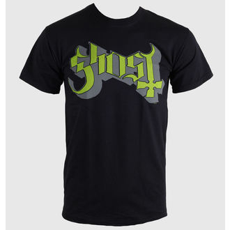 Herren T-Shirt   Ghost - Keyline Logo - Green Grey - ROCK OFF, ROCK OFF, Ghost