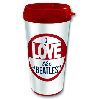 Keramiktasse Thermo The Beatles - I Love The Beatles - ROCK OFF, ROCK OFF, Beatles