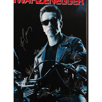 Poster mit Signatures Terminator 2, ANTIQUITIES CALIFORNIA