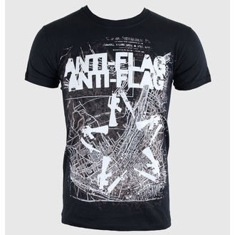 Herren T-Shirt   Anti-Flag - Gun Star Map - Black - KINGS ROAD, KINGS ROAD, Anti-Flag