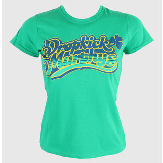 Damen T-Shirt  Dropkick Murphys - Script - Fitted - Green Kelly - KINGS ROAD, KINGS ROAD, Dropkick Murphys