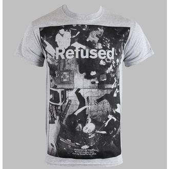 Herren T-Shirt   Refused - Live Photo - Heather Gray - KINGS ROAD, KINGS ROAD, Refused