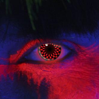 Kontakt- Linsen RED AND BLACK CHECKERS UV - EDIT, EDIT