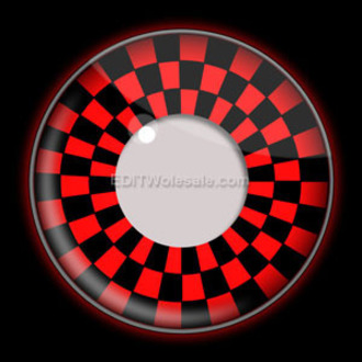 Kontakt- Linsen RED AND BLACK CHECKERS UV - EDIT, EDIT