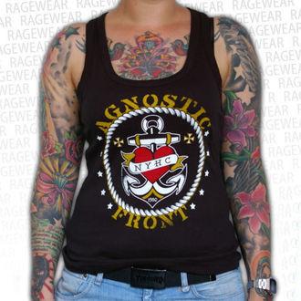 Damen Tank Top Agnostic Front - Anchor - Black - RAGEWEAR, RAGEWEAR, Agnostic Front