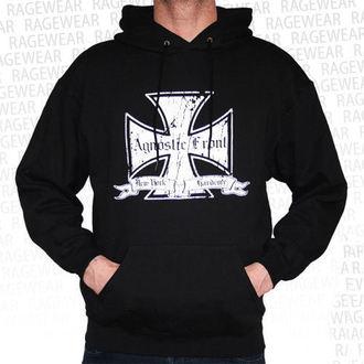 Herren Hoodie  Agnostic Front - Iron Cross - White - RAGEWEAR