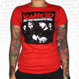 Damen T-Shirt Rancid - Dominoes - Red - RAGEWEAR, RAGEWEAR, Rancid