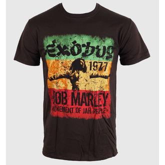 Herren T-Shirt   Bob Marley - Movement Dk - Brwn, ROCK OFF, Bob Marley