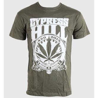 Herren T-Shirt   Cypress Hill - 420 2013 - Khaki - BRAVADO EU, BRAVADO EU, Cypress Hill