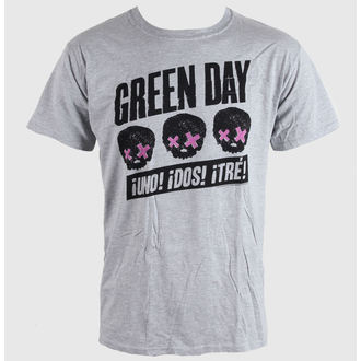 Herren T-Shirt   Green Day - Heads Better Than  - Grey - BRAVADO EU, BRAVADO EU, Green Day