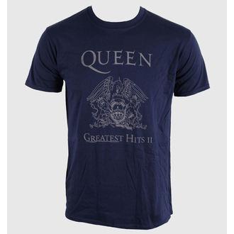 Herren T-Shirt   Queen - Greatest Hits II - Navy, ROCK OFF, Queen
