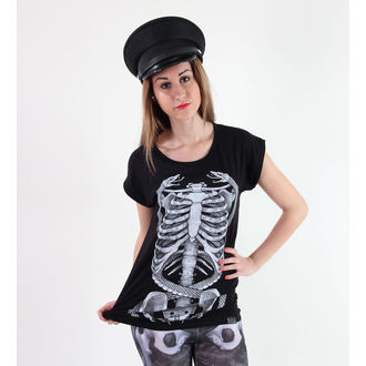 Damen T-Shirt  (Tunika) KILLSTAR - Ribcage - Black
