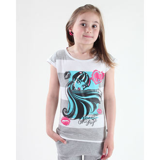 Mädchen T-Shirt Monster High - White/Grey, TV MANIA