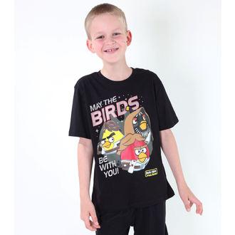 Jungen-T-Shirt  TV MANIA - Angry Birds - Black, TV MANIA