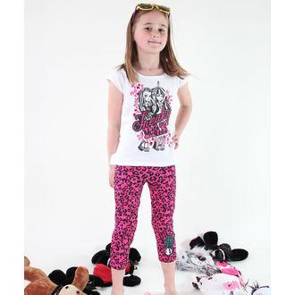 Mädchen Pyjama ( T-Shirt + Leggings) - Monster High - White/Pink, TV MANIA