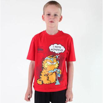 Jungen-T-Shirt  TV MANIA - Garfield - Red, TV MANIA