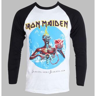 Herren T-Shirt   Langarmshirt  Iron Maiden - Seventh Son - White, ROCK OFF, Iron Maiden