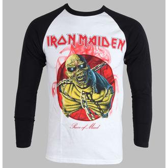 Herren T-Shirt   Langarmshirt  Iron Maiden - Piece Of Mind - White - IMRL02