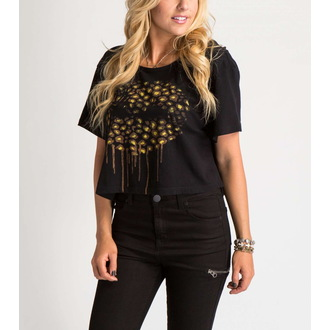 Damen T-Shirt (Top) METAL MULISHA - FELINE CROP, METAL MULISHA