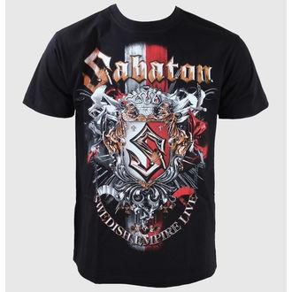 Herren T-Shirt Sabaton -Swedisch Empire Live - Black, CARTON, Sabaton
