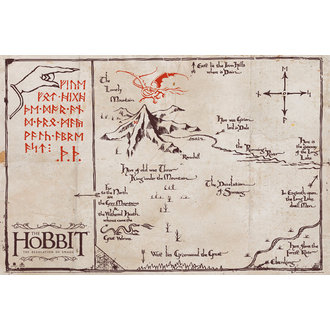 Poster The Hobbit - Mountain Map, GB posters